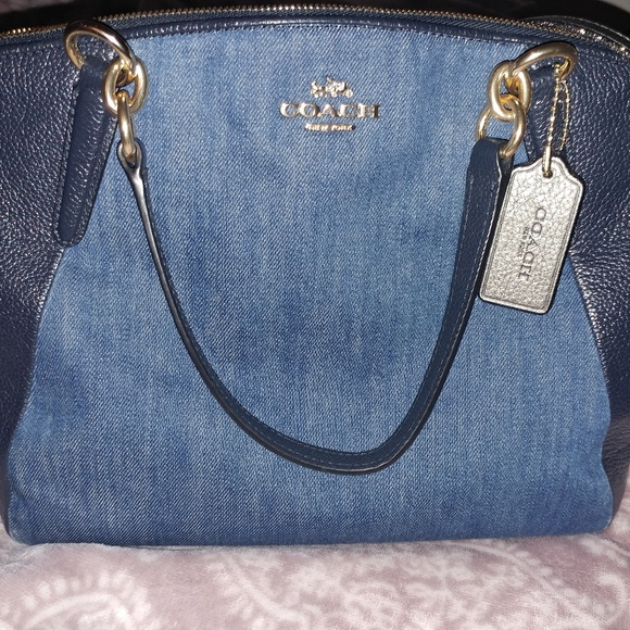 2dfd9c84cfd Coach Bags   Denim And Leather Purse   Poshmark